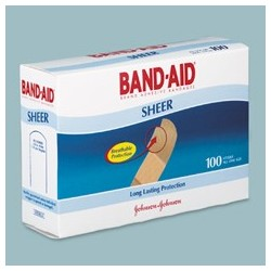 BandAid Sheer Adhesive Strips