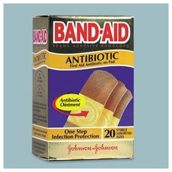 BandAid Brand Antibiotic Adhesive Bandages