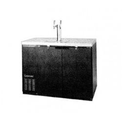 "Draft Beer Cooler, 50"", 2-Keg, Black"