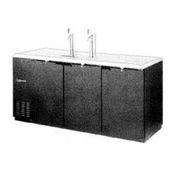 "Draft Beer Cooler, 79"", 4-Keg, Black"