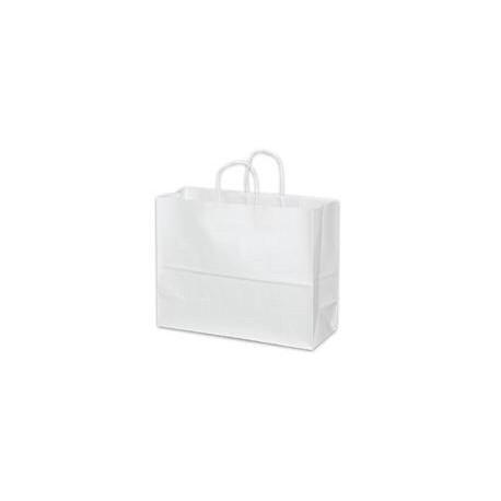 Super Royal White Paper Shopping Bag w/Twist Handle