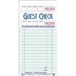 Guest Checks / Waiters Pad
