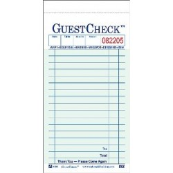 Carbonless Guest Checks, 2-Part, 18 Lines