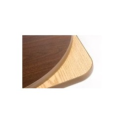 "Table Top 60"" Round, Melamine, Oak/Black"