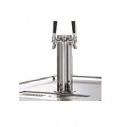 Double Faucet Draft Tower, Chrome, True Mfg