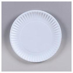 "6"" Vanity Paper Plate, Uncoated"