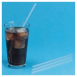 "Unwrapped Jumbo Straws, 7-3/4"", Translucent"