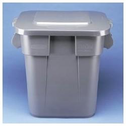 Square Brute Container, 28-Gallon, Gray