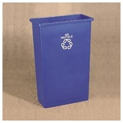 23 Gallon Recycling Trash Waste Container, Slim Jim