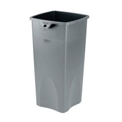 Untouchable Square Trash Container, 23-gal., Gray