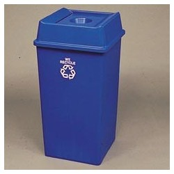 35 Gallon High Volume Square Recycling Container