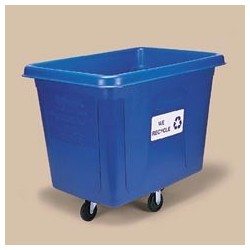 Bulk Collection Recycling Cube Truck, 16 Cu. Ft. Blue