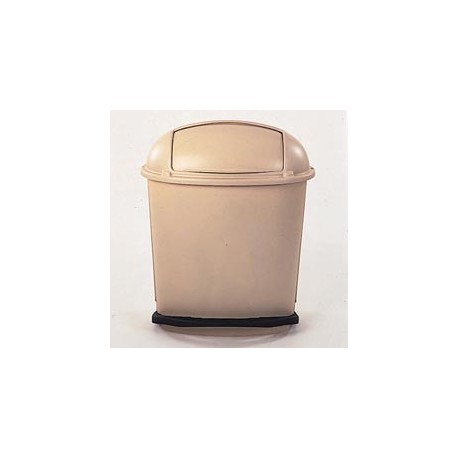 Wrap-a-round Foot Pedal Roll-top Receptacle, Beige, 14-1/2 gal.