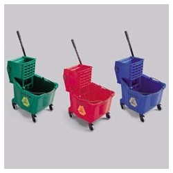 Brute 35 Quart Color Coded Bucket, Sideward Pressure Wringer