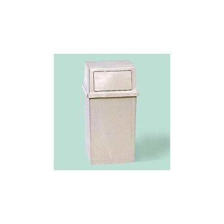 Ranger 35-Gallon Hooded Top Container, Beige