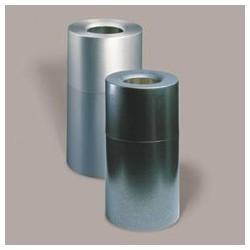 ATRIUM Aluminum Receptacle, Hammered Silver, 35-Gal.