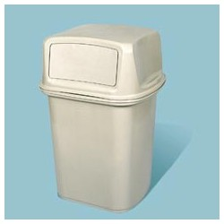 Ranger 45-Gallon Hooded Top Container with Two Doors, Beige
