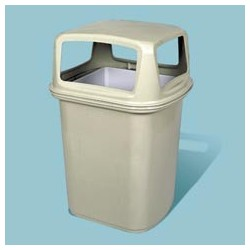 Ranger 45-Gallon Hooded Top Container with Four-Way Open Access