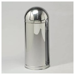 Marshal Steel Container, Mirror Stainless Steel, 12-Gal.