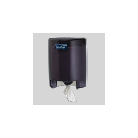 Center Pull Towel Dispenser, Transparent Black