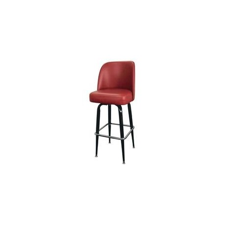 Bar Stool, Sq. Metal Frame, Standard Bucket Uph Seat