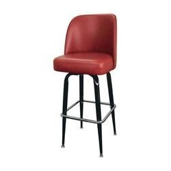 Bar Stool, Sq. Metal Frame, Large Bucket Uph Seat
