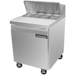 "Sandwich Unit, 27"", One-section, (8) 1/6 Size Pans"