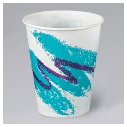 Wax Coated Paper Cold Cups, Jazz, 7-oz.