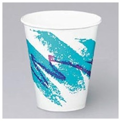 Double-Poly Coated Paper Cold Cups, Jazz, 12-oz.