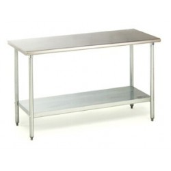Work Tables, Stainless Steel 24 x 48, No Backsplash
