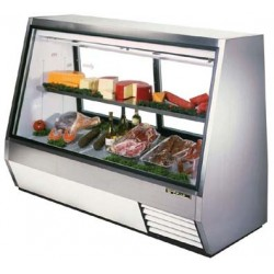 Double Duty Deli Case, see-thru, 35 cu. ft., Low