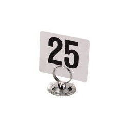 "Table Numbers, 4"" x 4"" square, white plastic"