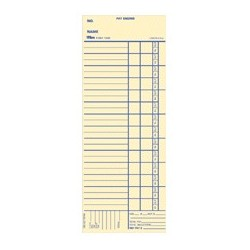 "Time Cards, Bi-Weekly, Payroll Calc/Deduc, 3-3/8""x9"""