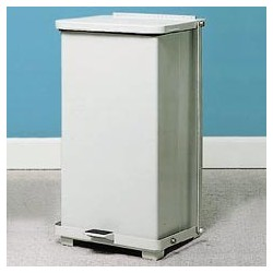 Defenders Step Can, White, 12-gal.