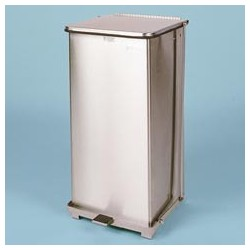 Defenders Non-magnetic Step Can, Stainless, 24-gal.