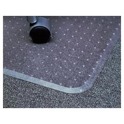 "Cleated Chair Mat, With Lip, 36"" x 48"""