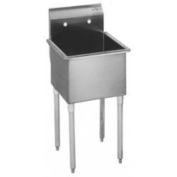 1-Hole Utility Sink, Non NSF, No Drainboards, 21""