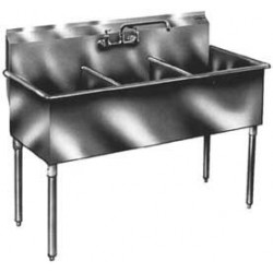 """3-Hole Utility Sink, Non NSF, No Drainboards  51"""""""