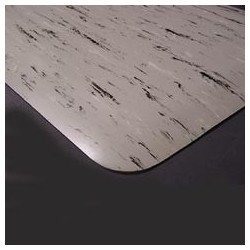 "Tile Top Antifatigue Mat, 24"" x 36"", Gray"