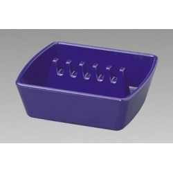 "Square Plastic Colors Ashtrays 4 1/4"" x 3 3/4"" x 1 1/2"""