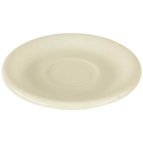 China Saucer, 6'', narrow rim, Dover White