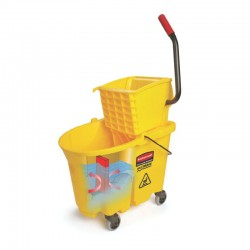 WaveBrake Mop/Bucket Wringer System - Yellow