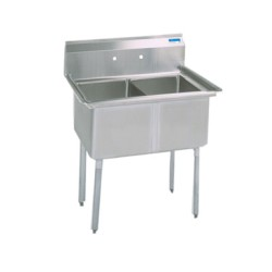 2-Hole Sink, NSF, No Drainboards