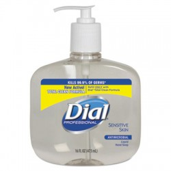 Liquid Dial Sensitive Skin, 16-oz Pump