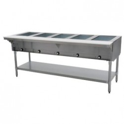"Steam Table, 5-Hole, Electric, 79"", 240 Volt"