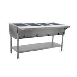 "Steam Table, 4-Hole, Electric, 63"", 240 Volt"