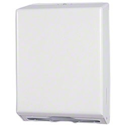 Multi-fold Towel Dispenser   White Metal