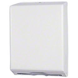 Multi-fold Towel Dispenser   White Metal