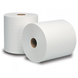 White Dublsoft Dispenser Roll Towels  (Proprietary) 7-1/2""