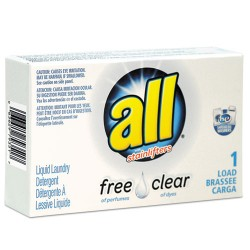 All® Free Clear HE Liquid Laundry Detergent, Unscented, 1.6 oz Vend-Box